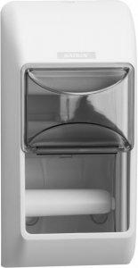 Dozownik do papieru toaletowego w roli Katrin, na 2 rolki, 14.5x30x14.5cm, biały