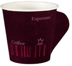 Kubki jednorazowe Coffee Quick z uchwytem Duni, 80ml, papier, 50 sztuk, zadruk