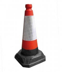 Pachołek ostrzegawczy JSP ROAD-PAHOG50, 50cm, biało-czerwony