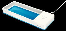 Piórnik Leitz WOW z ładowarką indukcyjną, ze złączem USB, metaliczny niebieski