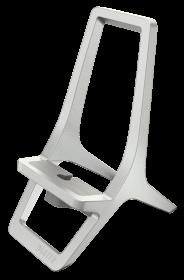 Podstawka pod smartfona Leitz Style, 88x119x64 mm, srebrny