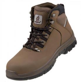 Buty robocze Urgent 124 S1, skóra nubukowa, rozmiar 42, brązowy