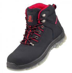 Buty robocze Urgent 124 S1, skóra nubukowa, rozmiar 45, czarny