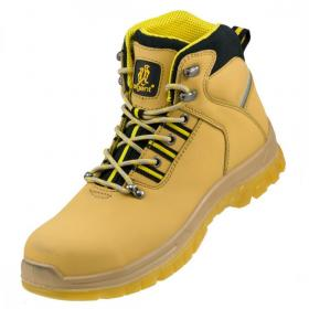 Buty robocze Urgent 124 S1, skóra nubukowa, rozmiar 40, żółty