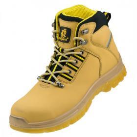 Buty robocze Urgent 124 S1, skóra nubukowa, rozmiar 42, żółty