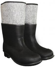 Kalosze gumowo-filcowe Równość, rozmiar 43, szaro-czarny