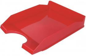 Półka na dokumenty na biurko Office Products, A4, plastikowa, czerwony