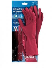 Rękawice ochronne Mag-Dar, gumowe, flokowane, rozmiar L, różowy