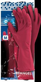 Rękawice lateksowe Reis RF, rozmiar M, różowy (c)
