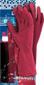 Rękawice lateksowe Reis RF, rozmiar S, różowy (c)
