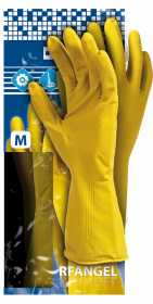 Rękawice lateksowe Reis RF, rozmiar L, żółty (c)