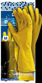Rękawice lateksowe Reis RF, rozmiar S, żółty (c)