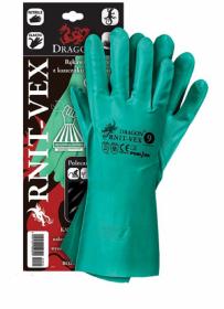 Rękawice ochronne Mag-Dar RNIT-VEX, wykonane z kauczuku nitrylowego, rozmiar 9, zielony