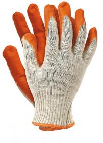 Rękawice powlekane gumą Mag-Dar Wampirki RU, rozmiar 10, czerwony