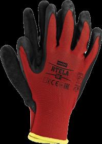 Rękawice powlekane Reis Rtela, rozmiar 10, czerwono-czarny
