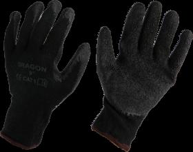 Rękawice powlekane Reis Dragon, rozmiar 10, grafitowo-czarny