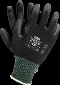 Rękawice powlekane Reis Rtepo, rozmiar 8, czarny