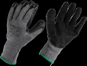 Rękawice powlekane gumą Reis Recodrag, PP-001, rozmiar 10, szaro-czarny