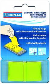 Zakładki samoprzylepne Donau, indeksujące, 25x45mm, 1x50 sztuk, żółty