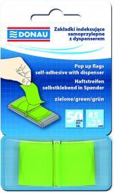 Zakładki samoprzylepne Donau, indeksujące, 25x45mm, 1x50 sztuk, zielony