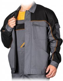 Bluza Professional,  gramatura 320g, rozmiar 48, szaro-czarny
