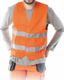 Kamizelka ostrzegawcza Reis, rozmiar L, pomarańczowy