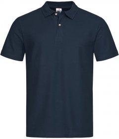 T-shirt polo Stedman, 100% bawełny,  gramatura 170g, rozmiar S, granatowy