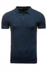 T-shirt polo Stedman, 100% bawełny, gramatura 170g, rozmiar L, granatowy