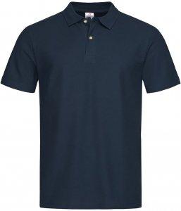 T-shirt polo Stedman, 100% bawełny,  gramatura 170g, rozmiar M, granatowy
