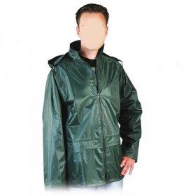Kurtka przeciwdeszczowa Reis KPNP, z kapturem, rozmiar XL, zielony