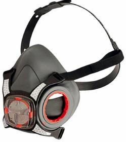 Maska przeciwpyłowa JSP Mas-Force8, wielokrotnego użytku, z zaworkiem oddechowym, czarny