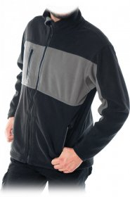 Bluza polarowa Reis Doble, gramatura 290g, rozmiar L, szaro-czarny