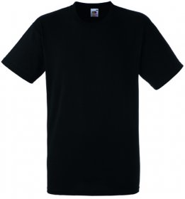 T-shirt Fruit of the Loom, gramatura 190g, rozmiar S, czarny