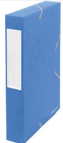 Teczka kartonowa z narożną gumką Office Depot, A4, 60mm, niebieski