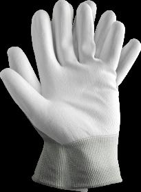 Rękawice powlekane poliuretanem Reis Rtepo, rozmiar 8, biały