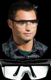 Okulary ochronne Reis GOG-FRAMEB, przeciwodpryskowe, bezbarwny
