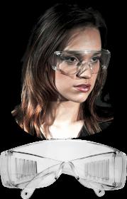 Okulary ochronne Reis GOG-ICE, przeciwodpryskowe, bezbarwny