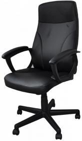 Fotel biurowy Office Products Crete, ekoskóra, czarny