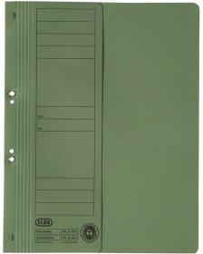 Skoroszyt kartonowy oczkowy Elba, 1/2 A4, do 150 kartek, 250 g/m2, zielony