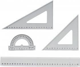 Zestaw kreślarski Office Depot, 4 elementy, transparentny