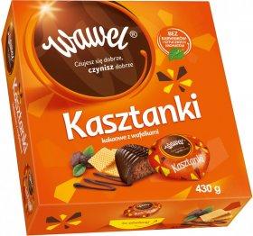 Bombonierka Wawel Kasztanki, kakaowy z wafelkami, 430g