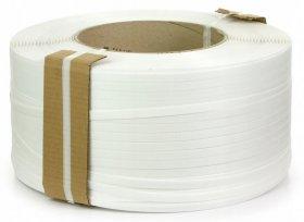 Taśma spinająca polipropylenowa, 16x0.80x1500m, biały