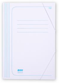 Teczka z gumką Bigo, A4, kartonowa, 350g/m2, 35mm, biały