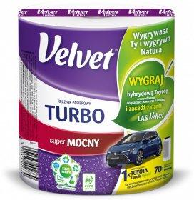 Ręcznik papierowy Velvet Turbo, 3-warstwowy, 78.21m, w roli, 1 rolka, biały