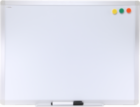 Tablica suchościeralno-magnetyczna Ofix Standard, w ramie aluminiowej, lakierowana, 60x90cm, biały