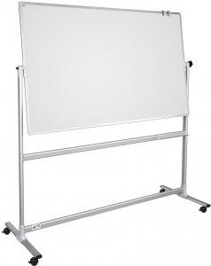 Tablica suchościeralno-magnetyczna Ofix Premium, w ramie aluminiowej, obrotowo-jezdna, ceramiczna, 90x120cm, biały