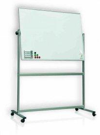 Tablica suchościeralno-magnetyczna Ofix Premium, w ramie aluminiowej, obrot-jezdna, lakierowana,120x180cm, biały