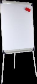 Flipchart z ramionami Ofix Standard, suchościeralno-magnetyczna, 100x70cm, srebrny