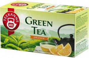 Herbata zielona smakowa w kopertach Teekanne Green Tea Orange, pomarańcza, 20 sztuk x 1.75g