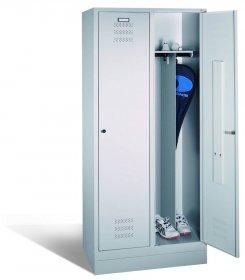 Szafa ubraniowa CP, metal, 1800x810x500mm, grubość blachy 0.8-1.0 mm, szary